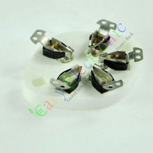 Оптом и в розницу 8 шт. 5pin Шасси гнездо Керамическая вакуумная трубка серебряный Базы Для 807 FU7 27 46 47 37 бесплатно доставка(China (Mainland))