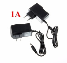 5PCS  AC DC Adapter 12V 1A 100-240V Converter EU US Charger Power Supply Plug Black Wholesale