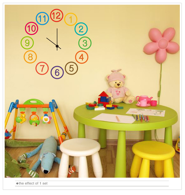 SHIJUEHEZI colorful numbers wall stickers eco friendly PVC Material ...