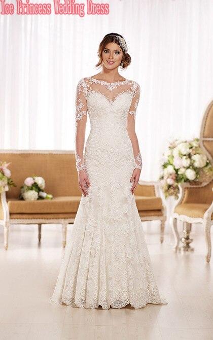 Vestidos de novia estilo sirena con encaje 2015