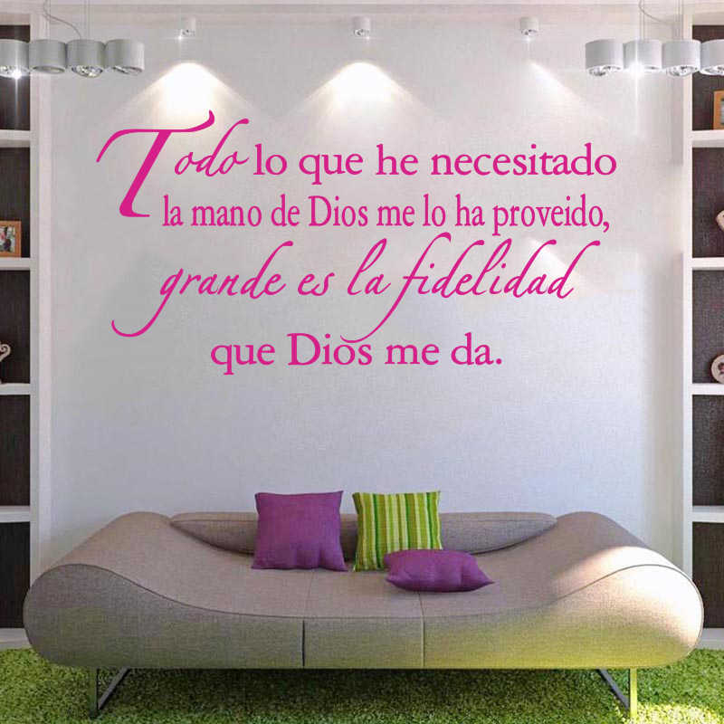 Vinyl Wall Stickers Spanish Quotes Espanol Wall Decals Removable Wall Art Home Decor Wallpaper for Living