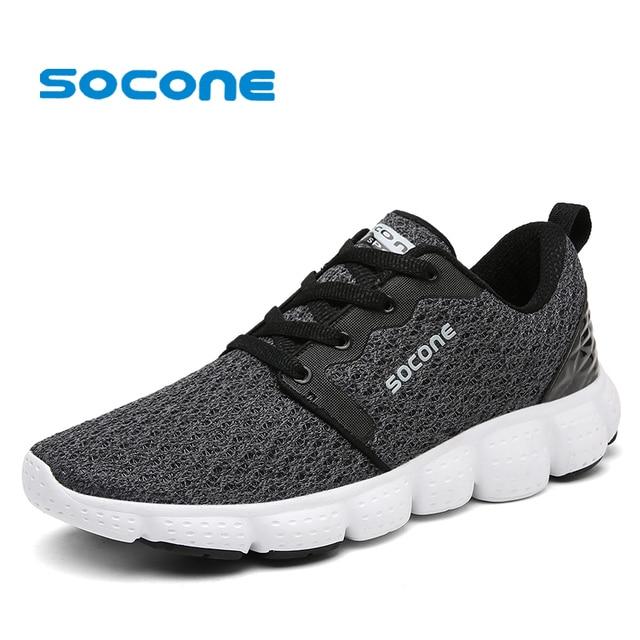 218dde9a Socone 2019 primavera hombres zapatillas de correr zapatos de tenis  transpirables para hombres deportes al aire