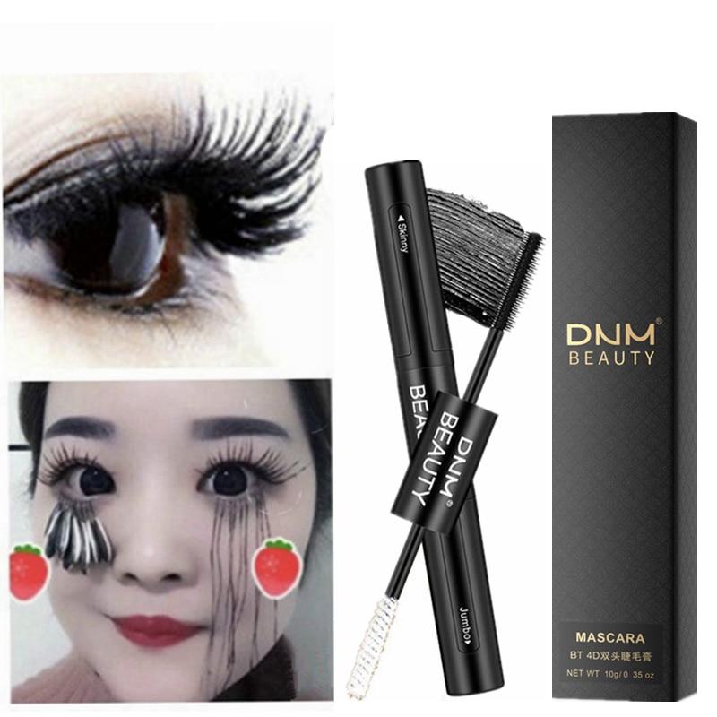 2 In 1 Mascara Waterproof Lengthens Eye Lash Black White Rimel 4d Curling Maskara Volume 4D Silk Fiber Eyelash Mascara