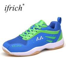 New Men Women Badminton Sport Shoes Breathable Indoor Training Sneakers Lace Up Gym Shoes Rubber Men Sneakers for Badminton