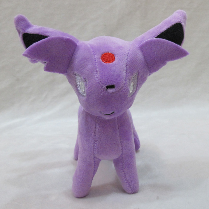 Free Shipping 7 Monster Anime Cartoon Espeon Stand Ver. Soft Stuffed Toy Kids Plush Doll Gift Dolls 18cm Kid Present