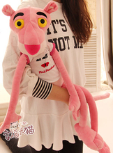 Gift for baby 1pc 80cm cartoon forest T-shirt thin Pink Panther naughty leopard plush doll novelty creative stuffed toy