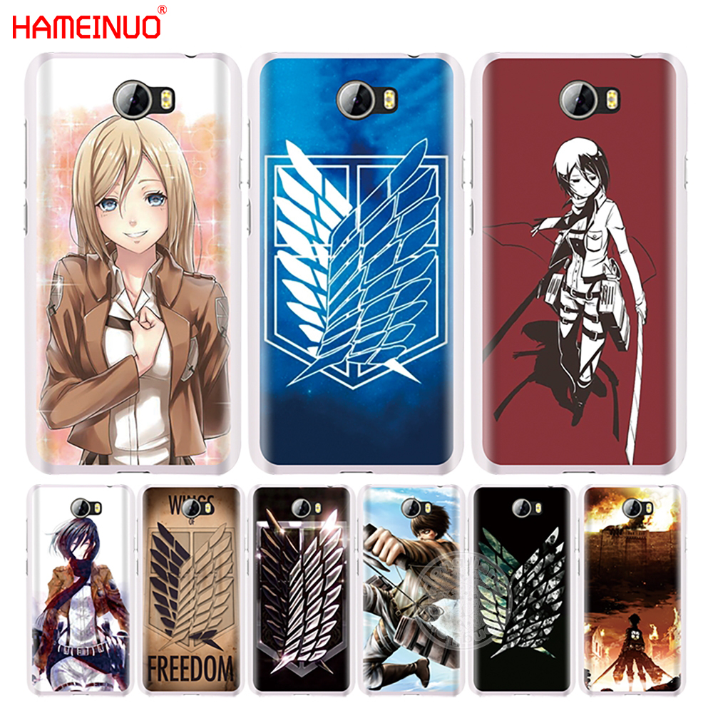 HAMEINUO Attack On Titan logo japanese <font><b>anime</b></font> cell phone Cover Case for <font><b>Huawei</b></font> <font><b>Honor</b></font> 5A 6A 6C 6X <font><b>9</b></font> NOVA PLUS <font><b>lite</b></font> Y3 ii 2 image