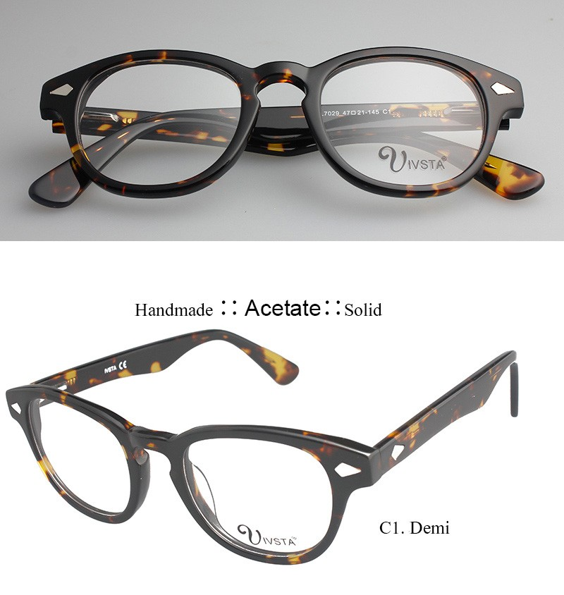 7a6d79b1bf51b CL Real Handmade Acetate Frames Johnny Depp Glasses Men Superstar Demi  Color Brand Optical Frame Cat. Z5-logo1 ...