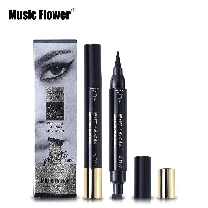 Eyeliner Inventive Music Flower 8 Colors Gel Eyeliner Automatic Waterproof Makeup Black Eye Liner Long Lasting Natural Eyeliner Pencil Shimmer Blue Beauty Essentials