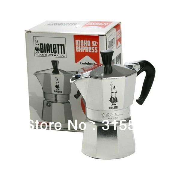 High Quality 2 Cup Bialetti Brand Logo Aluminium Expresso Coffee Maker