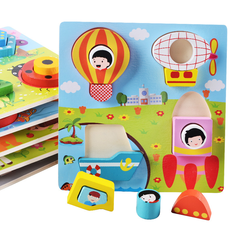 3d Puzzle Children Toys 2018 Brinquedo Toys Animal Cartoon Models Wooden Puzzle Kids Games Intelligence Children Educational Toy