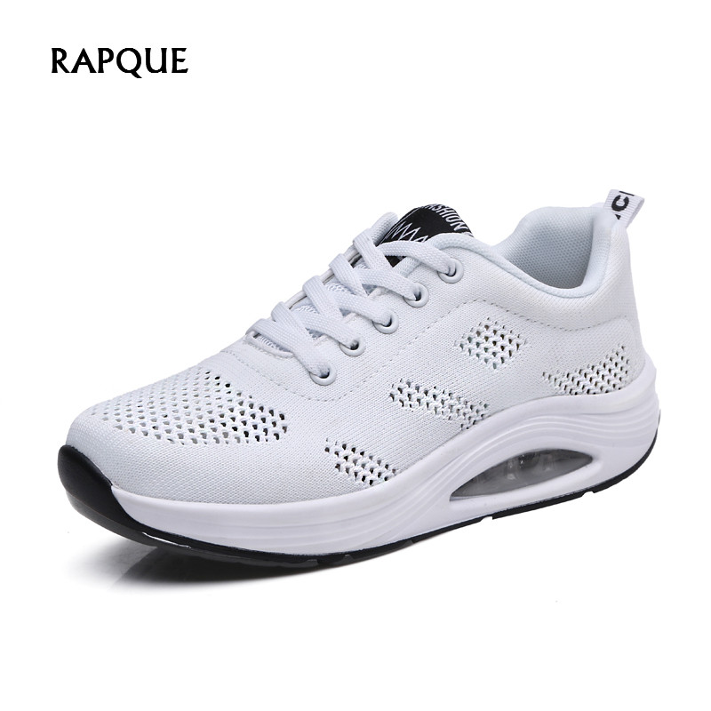 Women's Shoes Woman Air Mesh Breathable Casual Shoes Female 2019 Platform Sneakers Women White Black Red Summer Trainers