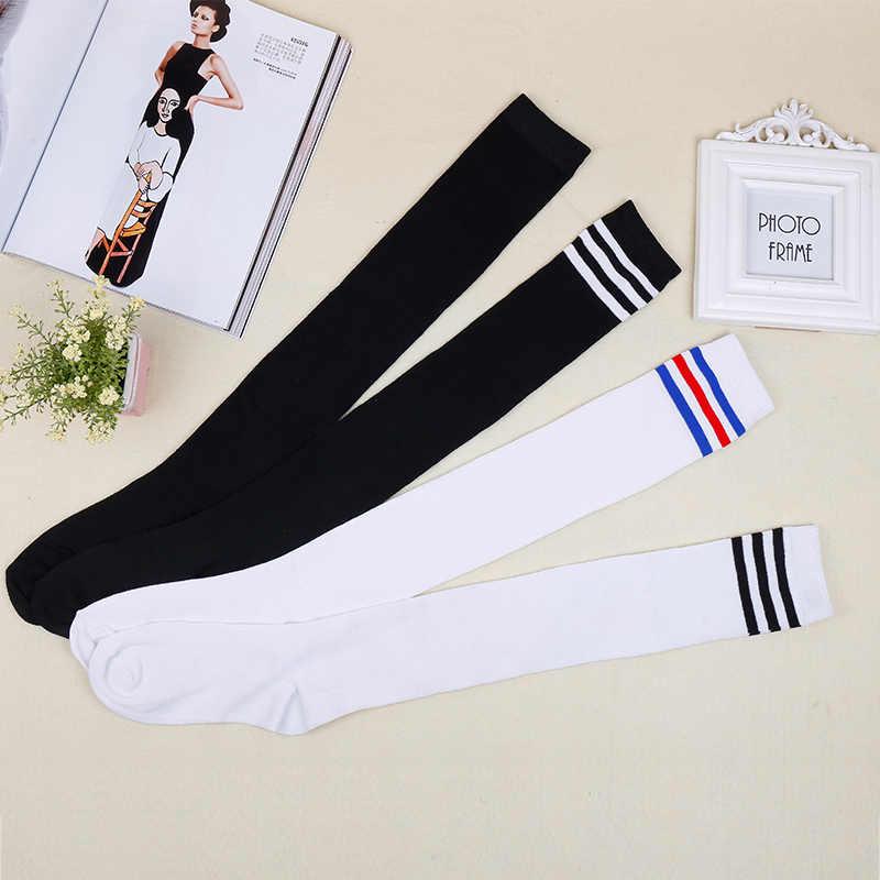 f8c9e641ec3 Detail Feedback Questions about Japanese School Uniforms Accessories Jk Girl  Socks Vintage 3 Stripes Students Teenagers Over Knee Uniform Socks Cosplay  ...