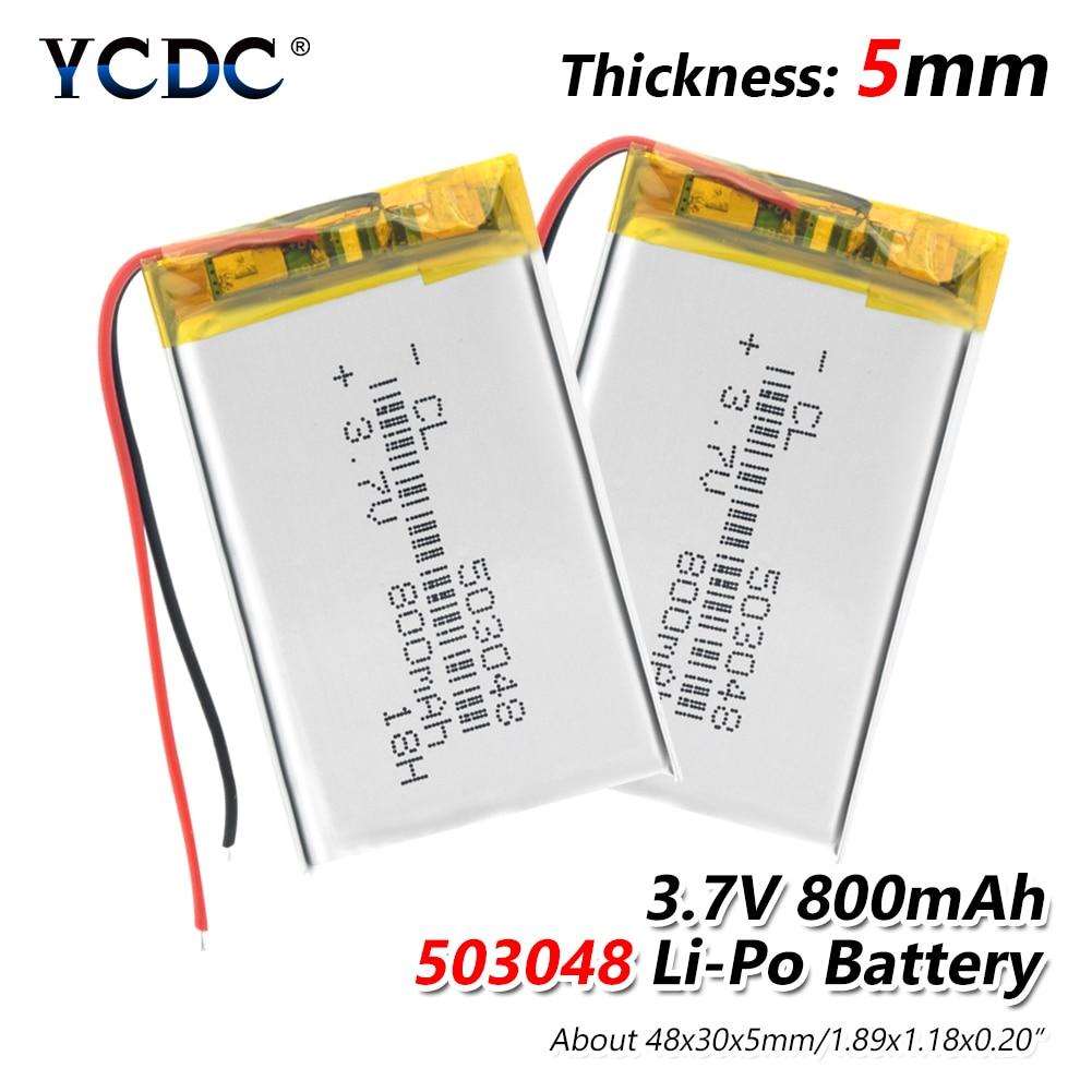 1/2/4 Pieces 48x30x5mm Rechargeable 503048 800mAh Li-ion Battery 3.7V Volt Li-polymer Li-po Lithium Battery With PCB Module