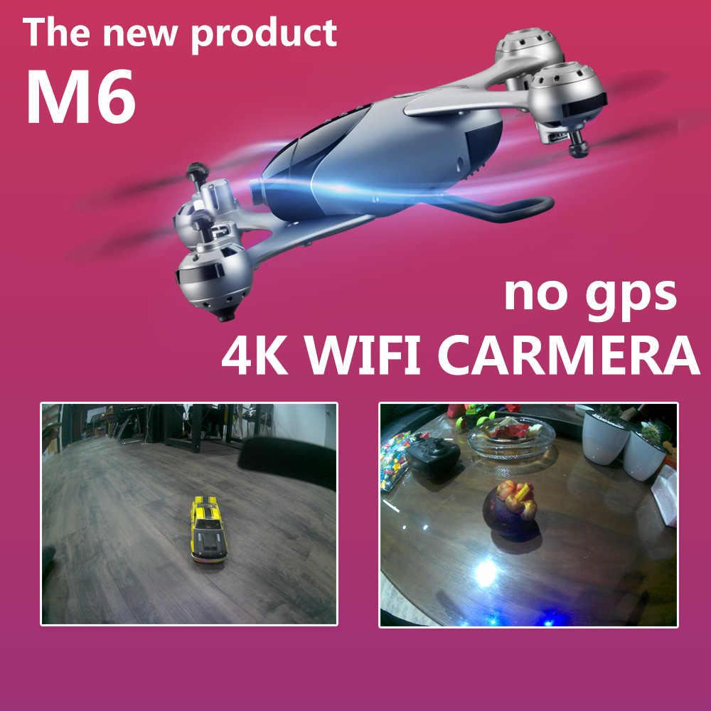 SMRC M6 follow me (следуй за мной Радиоуправляемый квадрокоптер карманные Дроны с камерой HD 4 K RC самолет Квадрокоптер гонки Вертолет FPV гоночный Дрон игрушки X PRO