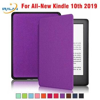 Funda de cuero PU inteligente Ereader caso Amazon-Kindle Touch 2019 para  Kindle 10th (10th Gen 2019) e-book imán + pluma