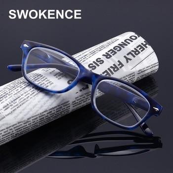60784b8dc9 SWOKENCE de bisagra de resorte de primavera gafas de lectura de las mujeres  de la marca de los hombres de diseño cómodo Anti-fatiga la presbicia gafas  al ...