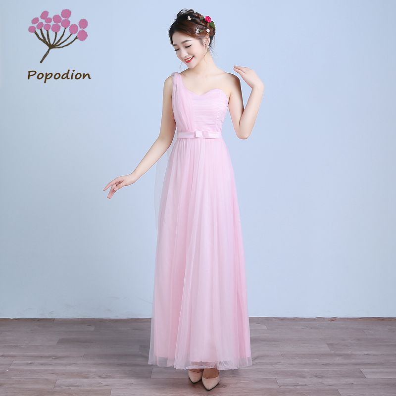 formal dresses for summer wedding summer one shoulder bridesmaid dresses flower dress 4316