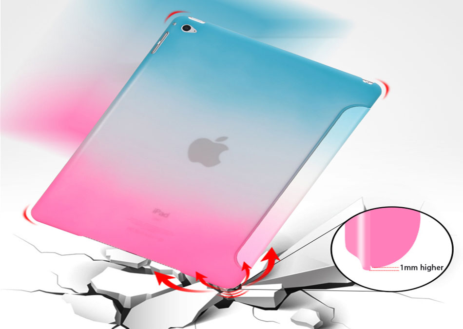 Rainbow Tablets Case For iPad Pro 10.5 iPad Air 3 10.5 2019 Color Pattern Smart Tri-folded Tablet Cover For iPad Pro 10.5 Cases-6