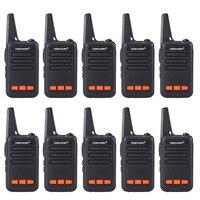 10 шт./лот Портативный Walkie Talkie мини радио UHF 400 480 мГц 3 Вт 1500 мАч 16CH двухстороннее радио радиолюбителей КВ трансивер Communicator рация детская
