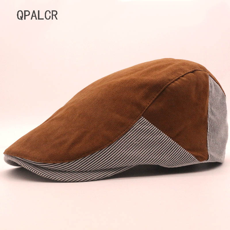 QPALCR Patchwork Embroidery Newsboy Cap Hat