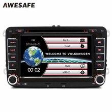2 Din 7 Pulgadas de Coches Reproductor de DVD de radio del GPS bluetooth FM para Volkswagen VW golf 6 passat B7 touran sharan Lavida polo  Skoda SEAT tiguan con envío regalo