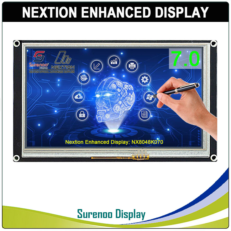 """7.0"""" NX8048K070 Nextion Enhanced HMI USART UART Serial Resistive Touch TFT LCD Module Display Panel for Arduino Raspberry Pi-in LCD Modules from Electronic Components & Supplies"""