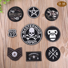 Iron on Patch Embroidered Badges Rock Cool Appliques Clothes Stickers Punk Pins Black Stickers Biker Hat Bag DIY Decorations(China)