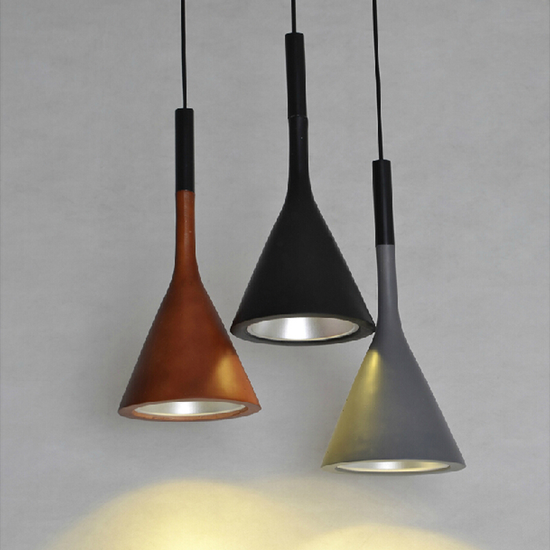 Modern LED chandelier dining room lighting fixtures Nordic hanging lights bedroom illumination Imitation cement suspended lamp