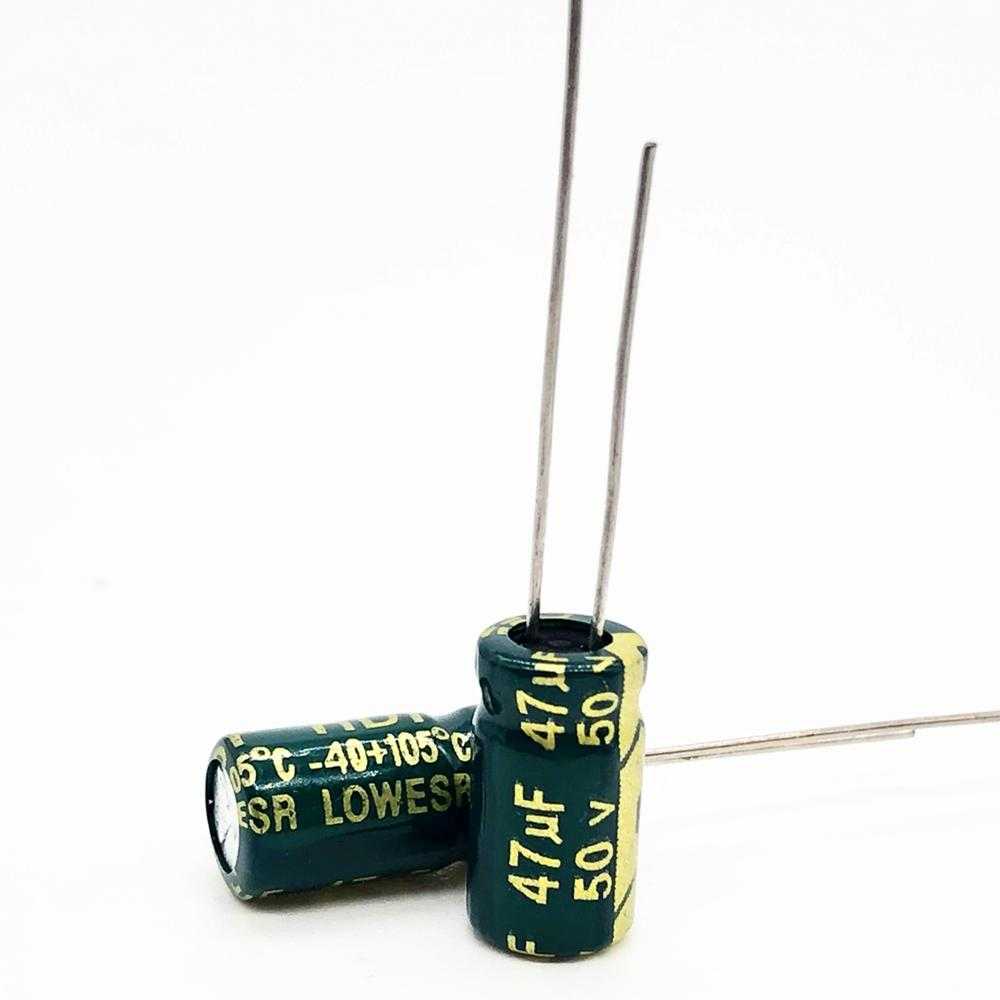 50V 47UF 6*12 High Frequency Low Impedance Aluminum Electrolytic Capacitor 47uf 50v 20%