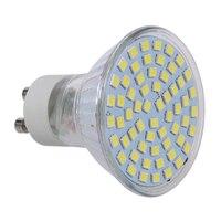 CNIM Caliente 10X5 W GU10 3528 SMD 60 LED Pure White 6500 K Luz Del Punto de Luz de La Lámpara Del Bulbo 220 V Nuevo