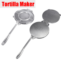 15cm Silver Tortilla Maker Press Pan Heavy Restaurant Commercial Aluminium Tortilla Pie Maker Press Tool Home Appliance Par