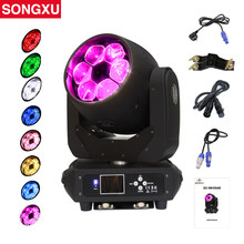 6x40W Bee Eyes Moving Head Light RGBW 4in1 LED Wash Zoom Moving Head DMX Channel Stage Light for DJ Disco Nightclub/SX-MH0640(China)