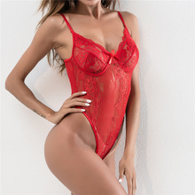 Multi-colors High Waist Sexy Perspective Hollow Out Lace Knitted Swimsuits Beach