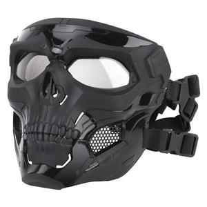 Image 3 - Тактическая Маска с черепом для пейнтбола на все лицо защитный Быстрый Шлем для военных страйкбола маски CS чехол для лица