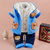 2017 New Arrival Baby Boy Clothes 3pcs Fall And Winter Baby Boy Clothing Sets Toddler Kids