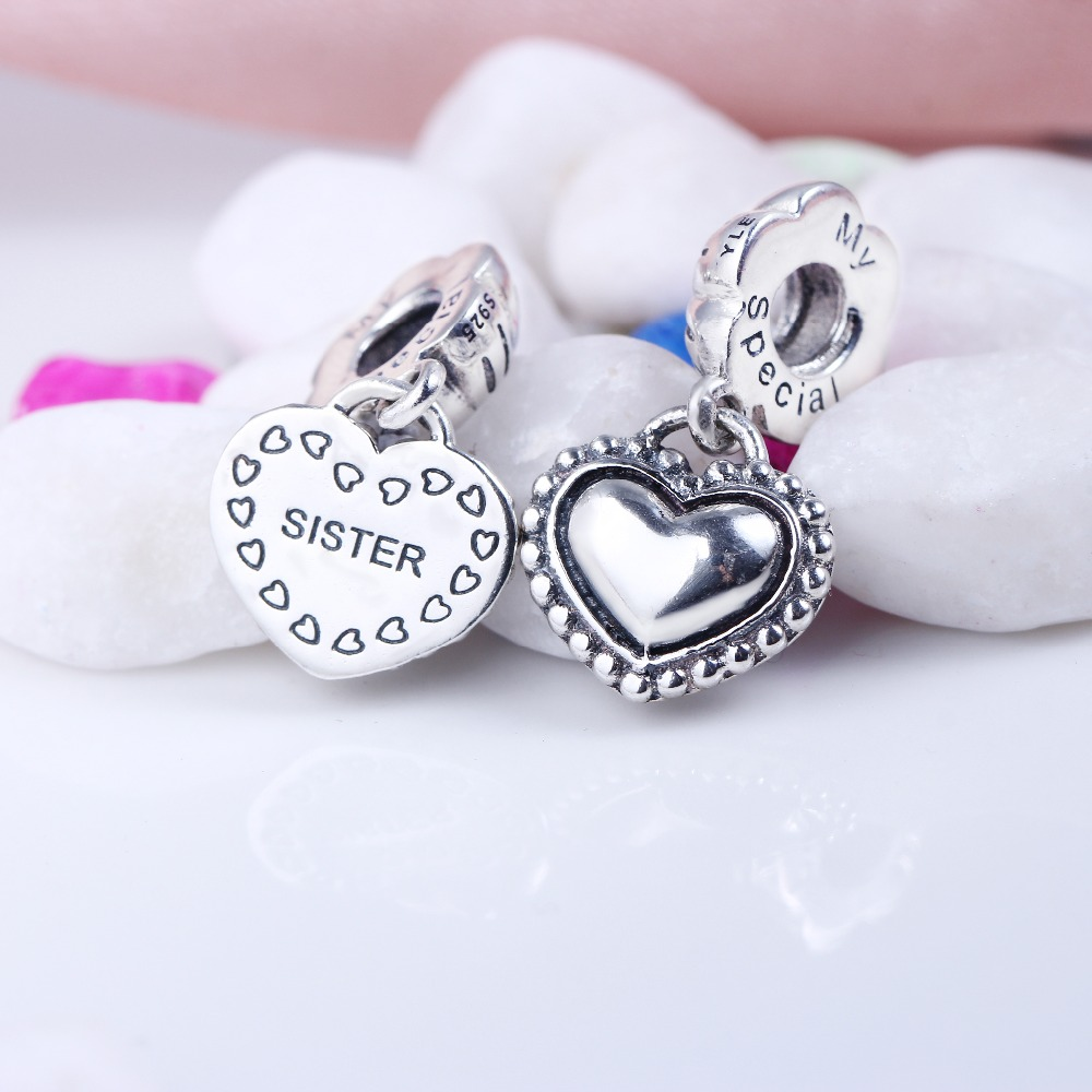 100% 925 Sterling Silver My Special Sister Pendant Charms Fit Original Pandora Bracelet DIY Charms Beads for Jewelry Making 100% 925 sterling silver my special sister pendant charms fit original pandora bracelet diy charms beads for jewelry making