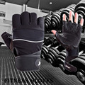 Gym Body Building Training Fitness Gloves Sports Equipment Weight lifting Workout Exercise Fingerless Antiskid Long Wrist Wrap