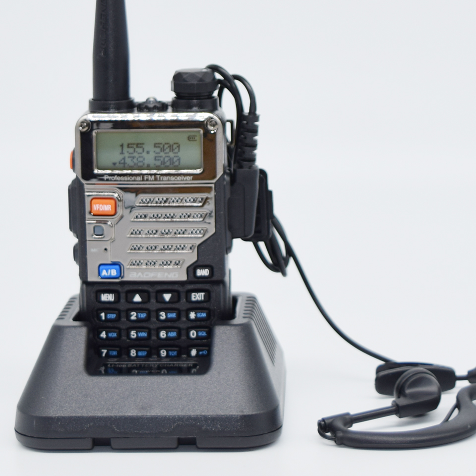Walkie Talkie Radio Mudah Alih Baofeng UV-5RE Plus Dual Band Dua Arah Radio Pofung UV 5RE 5W 128CH UHF / VHF Dual Radio Paparan