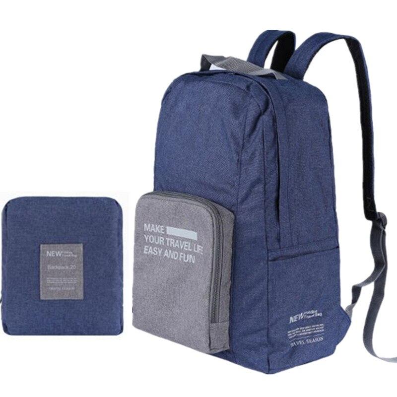 Prix pour Style coréen femmes toile sac à dos Grande capacité solide sac pliage sacs à dos voyage sac packs cartables mochila f16