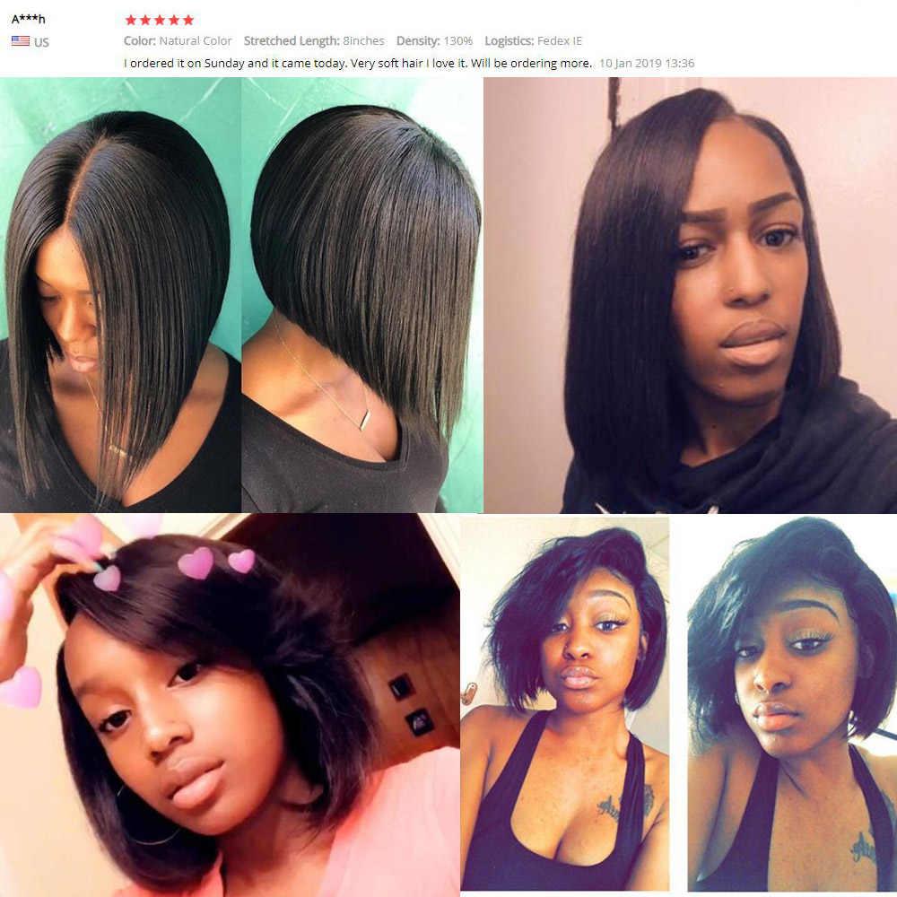 Прямые парики из натуральных волос на кружеве 13x4 для черных женщин, нартурный цвет, 613 блонд, средняя часть, короткие волосы remy bob, парик с кружевом спереди