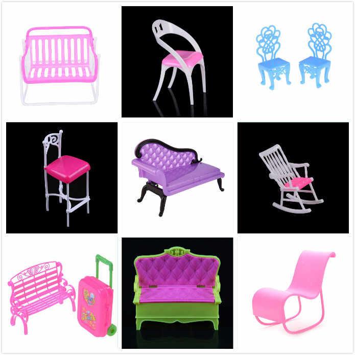 어린이 가구 장난감 액세서리 흔들 소파 벤치 의자 라운지 인형 집 컴퓨터 의자 거실 침실 정원