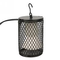 Лампа для обогрева домашних животных инфракрасный керамический свет с защитной клеткой излучатель тепловая лампа товары для домашних животных куры рептилия лампа 100 Вт 110-230 В