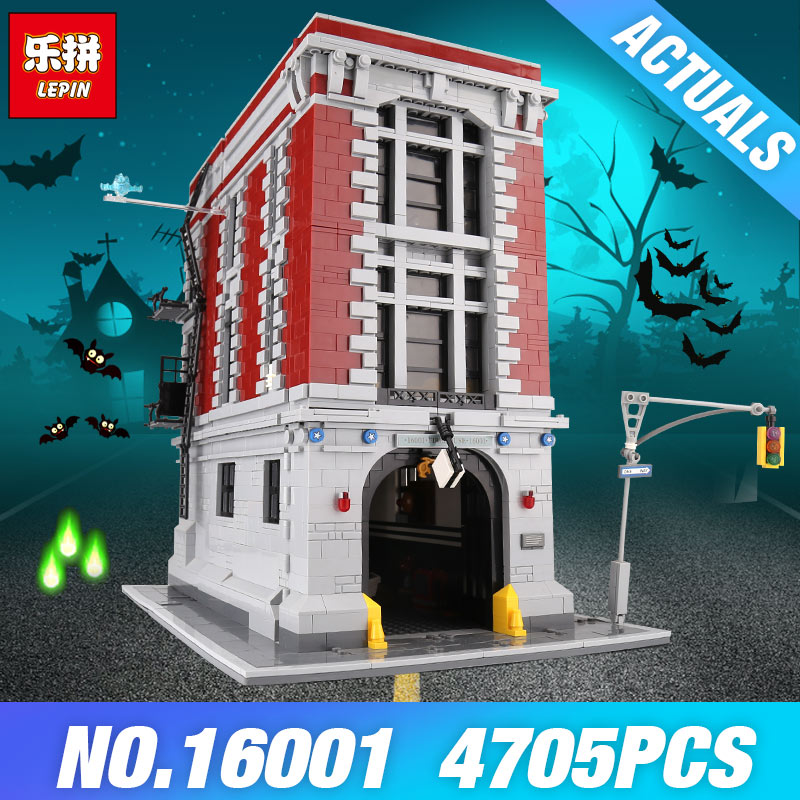 DHL LEPIN 16001 Ghostbusters Firehouse Headquarters 75827 Toys Model Building Blocks Bricks Educational toys DIY Christmas Gifts цены