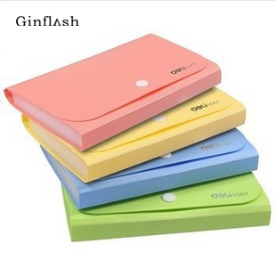 Plastic Candy Color A6 File Folder Small Document Bags Expanding Wallet Bill Folders For Documents Blue Pink File Holder OFF012