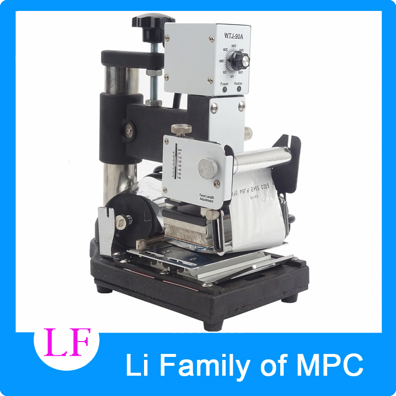 Hot Stamping Machine For PVC Card Member Club Hot Foil Stamping Bronzing Machine WTJ-90A member