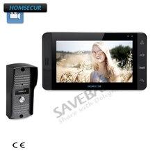 HOMSECUR рук-свободный 7 «видео и аудио смарт-дверной звонок с двойной Путь Интерком для дома безопасности (1V1, 1V2, 1V3, 1V1 + комплект замка)