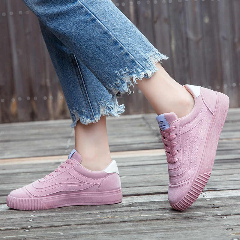c3721c96bea5 ... MCCKLE Spring Women Sneakers Plus Size Platform Flat Shoe Star Vulcanized  Shoes Lace Up Female Casual ...