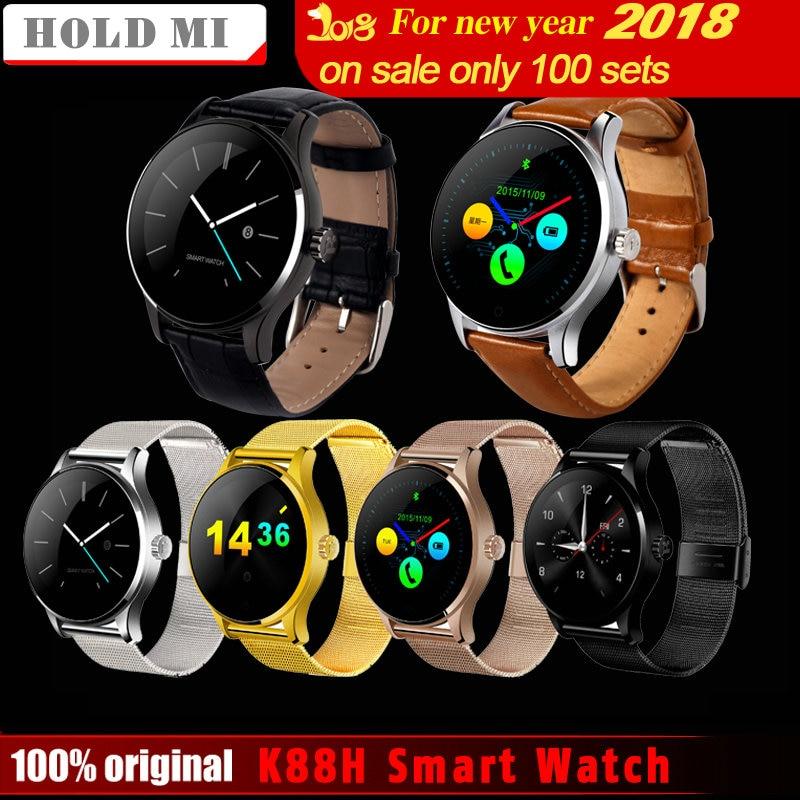 Удерживайте Ми k88h Смарт часы 1.22 дюймов IPS круглый Экран Поддержка Спорт Heart Rate Мониторы Bluetooth SmartWatch для iOS андроид