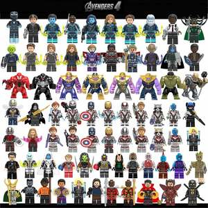Marvel Avengers 4 Endgame Building Blocks Bricks Captain America Iron Man Thanos Hulk Loki Thor Spider Figures Toys for Kids(China)